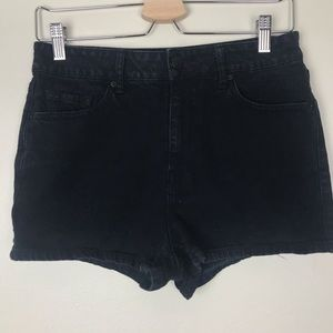 Urban Outfitters BDG High Rise Erin Black Shorts
